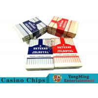 3.3mm Thickness Plastic Coated Playing Cards , Entertainment Pvc Playing Cards  Manufactures
