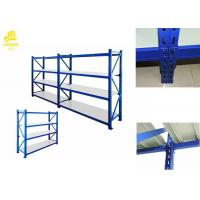 Four Tier Heavy Duty Steel Racks With Box Beam Or Step Beam 75mm Pitch Manufactures