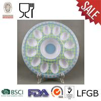 China Melamine Round Egg Tray with logo on sale