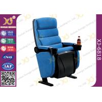 Plastic Shell Floor Mounting Theatre Chairs Music Hall Seating With PP Cup Holder Manufactures
