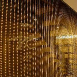 2015 Fashion Sparkled Gold Metal Ball Chain Curtain metal bead curtain Manufactures