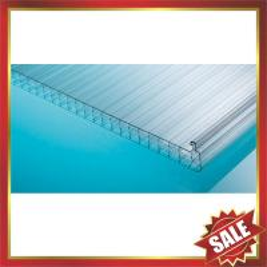 China polycarbonate U locking hollow sheet,U locking pc sheet,U lock polycarbonate panel-excellent construction panel on sale