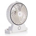 Anti Slip USB Powered Desk Fan Ultrasonic Frequency Multifunctional Indicator Manufactures