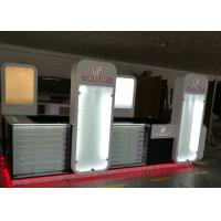 Quality Wood Glass Mobile Shop Display Counters High Low Combination For Shopping Mall Display for sale