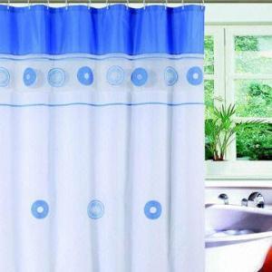Water-resistant Shower Curtain, Made of PVC, PE, PEVA, EVA Materials