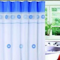 Quality Water-resistant Shower Curtain, Made of PVC, PE, PEVA, EVA Materials for sale