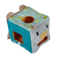 Eco Friendly Stuffed Animal Tissue Box Square Shape Embroidery Logo Manufactures