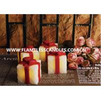 Gift Box Shaped LED Flameless Votive Candles / Beautiful LED Votives Light for Gifts Manufactures
