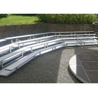 China Stadium Fixed Aluminum Sports Bleachers 430mm Seat Height With Double Foot Planks on sale