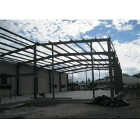 Single Span Steel Frame Warehouse Construction Fast Constructed For Industry Manufactures