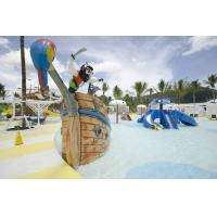 Fiberglass Pirate Ship Amusement Park Equipment For Spray Play Manufactures