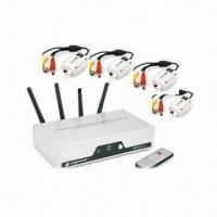 4-channel Wireless Transmitter and Receiver with 12V DC/500mA Power Adapter Manufactures