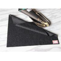 Black And Grey Twill Wool Fabric Thin Yarn Type In Stock 60 Wool 400g / M Manufactures
