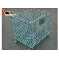 China Diameter 5.8mm Wire Mesh Storage Containers Electro Galvanized Finish on sale