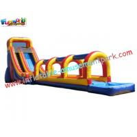 Commercial grade 0.55mm PVC tarpaulin Outdoor Inflatable Slip N Water Slides for Kids Manufactures