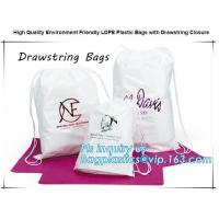 Biodegradable Environment friendly LDPE Plastic bags with DRAWSTRING closure bags, backpack, drawtape bag, essentials Manufactures