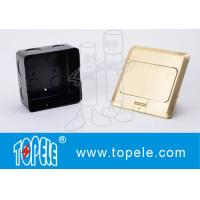 OEM Square Panel Copper / GFCI Receptacles Round Aluminum Aloy POP-up Type Floor Socket Manufactures