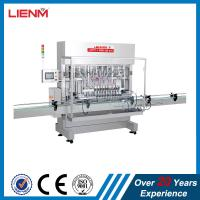China Automatic linear piston cosmetic automatic shower gel bottle filling capping labeling machine filling line packing on sale