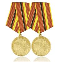 Gold Plating Bronze Honor Custom Award Medals Soft Enamel Colored With Ribbon Manufactures