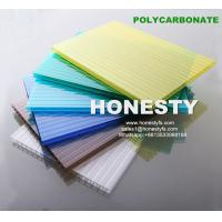 fire retardant hollow plastic sheet 4mm 6mm 8mm 10mm hollow polycarbonate sheet Foshan Honesty polycarbonate sheet Manufactures