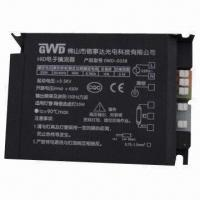 35W HID Electronic Ballast with 39W Output Power and 0.17A at 230V Line Current Manufactures
