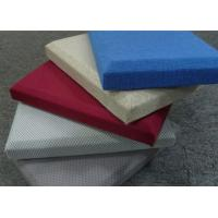 Flexible Leather Fabric Acoustic Panel For Decorative Fabric Walls BT new pattern Manufactures