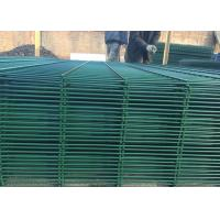 Triangular V Type PVC Coated Welded Wire Mesh Fencing / Green Metal Fencing Manufactures