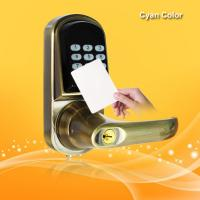Smart RFID Card Door Lock High Tech Technology With Voice Prompt Speaker Manufactures
