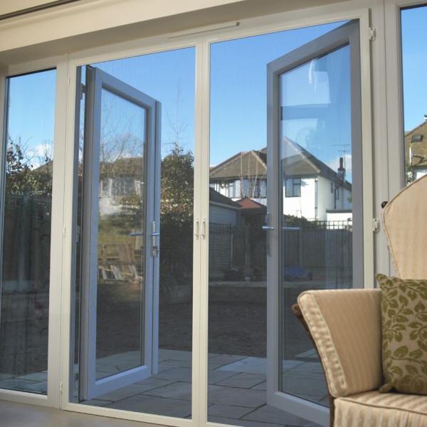 Quality Modern Bathroom Glass Aluminum Hinged Sliding Doors For Residential House for sale
