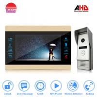 Morningtech Popular 10.1 inch AHD Door bell 720P960P door unlock and door Intercom Manufactures