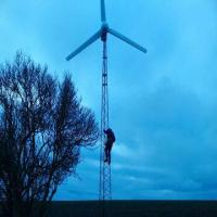 Quality 5kW Wind Turbine Plus Max. 2.5kW Solar Panels, Controlled by Wind Solar Hybrid Charging Controller for sale
