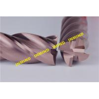 16 - 20 mm Carbide HRC55 Extra Long Square End Mill with SiN / AlTiN Coating Manufactures