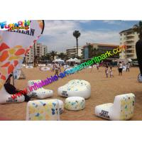China 0.6mm PVC Tarpaulin Air Sealed Inflatable Furniture Mini Rocking Chair With Air Pump for sale