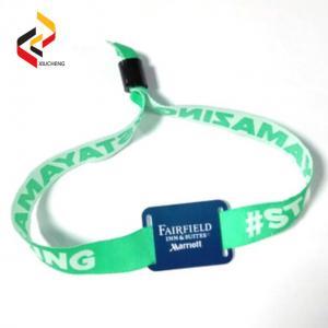 Adjustable Passive RFID Wristband Price Fabric RFID Wristband Bracelet NFC NTAG213 Waterproof Smart RFID Band Manufactures