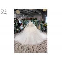 Back Bandage Ladies Bridal Gown , Strapless Lace Wedding Gown 3 In 1 Tulle Shawl Manufactures