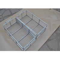 304 316 316L Stainless Steel Metal Wire Basket With Polishing Food Grade Manufactures
