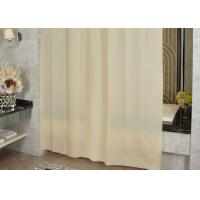 Ivory Shading Beautiful Shower Curtains Color Customized Mildewproof / Greaseproof Manufactures