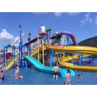 Water Playground Equipment Commercial Spiral Water Slide 23 * 22 * 12m Manufactures