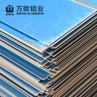 Metal Alloy Flat Aluminum Plate 600 - 2280mm Width High Strength For Construction Manufactures