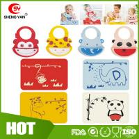 Customized Animal Printed Baby Tablemat Silicone Bibs For Babies Manufactures