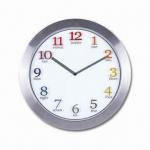 Aluminum Super Slim Wall Clock, Measuring 11 Inches Manufactures