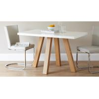 4 Seater Modern Dining Table Furniture 1.2 Meters Length Matt Gray Lacquer Painting Manufactures