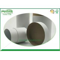 Eco - Friendly White Cardboard Tubes , Custom Paper Tube Packaging Dampproof Manufactures