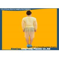 Durable Elastic Cuff Disposable Dressing Gowns , Disposable Surgical Apron OEM Service Manufactures