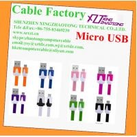 China Flat USB TO MICRO USB Cable for mobile phones on sale