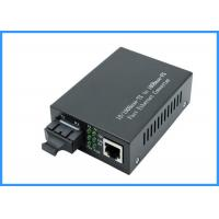 China 10 / 100Mpbs SC Optical Network Media Converter 20KM Single Mode 9 / 125um Type on sale