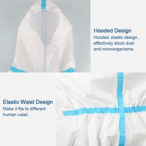 Splash Repellent Disposable Protective Clothing , Non Woven Disposable Protective Coveralls Manufactures