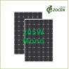 Laminated 205W 36V Monocrystalline Solar Panels With Anti - Reflective Coating Manufactures
