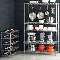 China Kitchen Cookware Smart Wire Chrome Finish Commercial Shelving Racks on sale