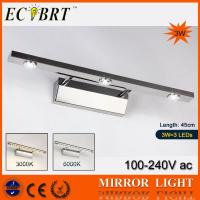 China ECOBRT*3W Novelty Stainless Steel High Power LED Bathroom Mirror Light #5540 on sale